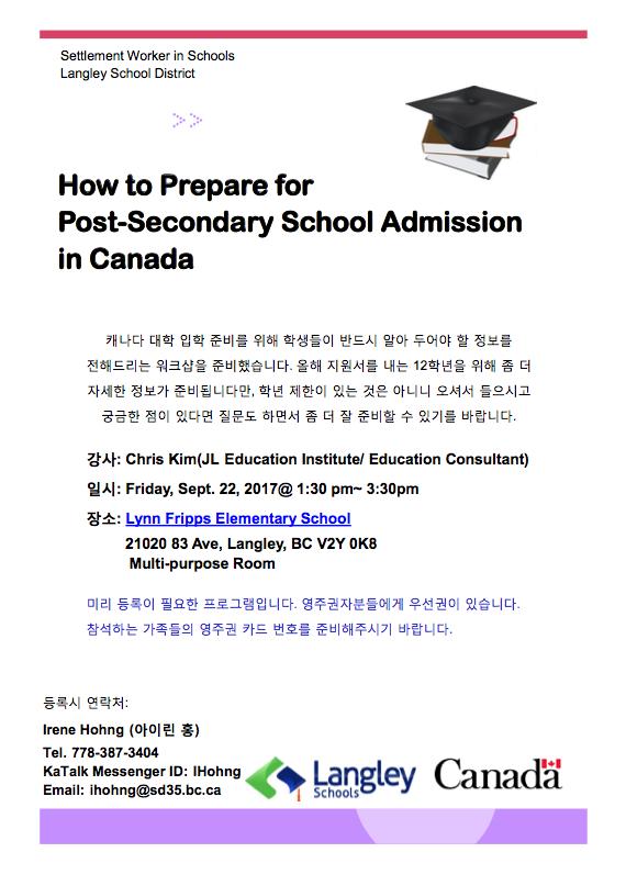 Workshop for Korean Speaking Parents